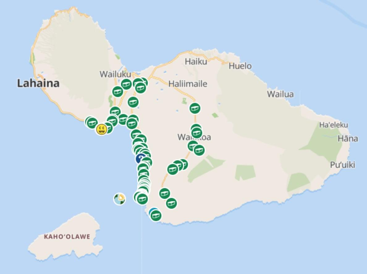 geocache map maui