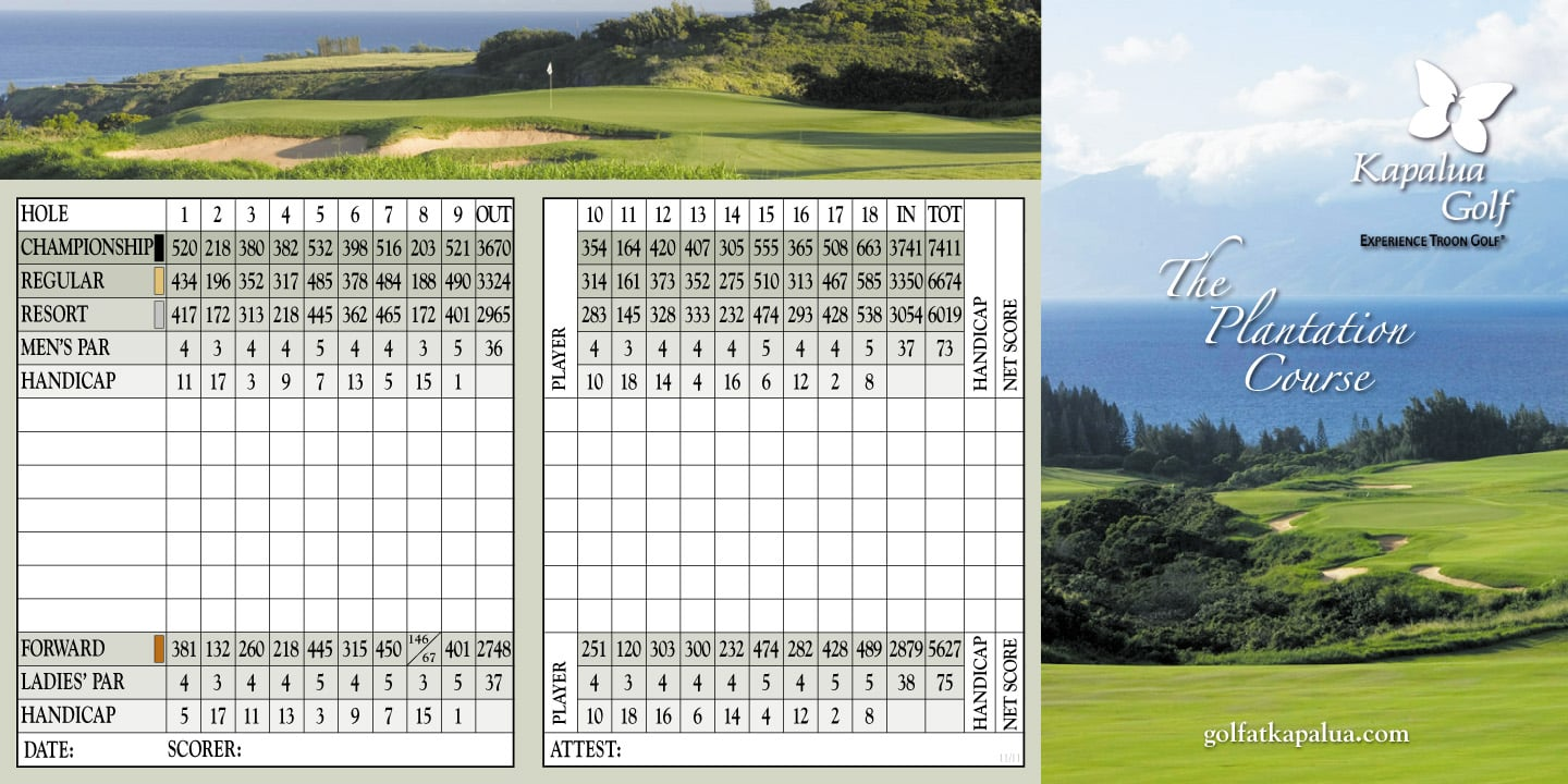 Kapalua Golf - The Plantation Course