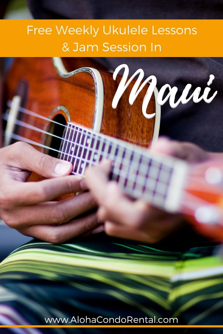 Free Weekly Ukulele Lessons Jam Session In Maui - www.AlohaCondoRental.com Vacation Rental Maui
