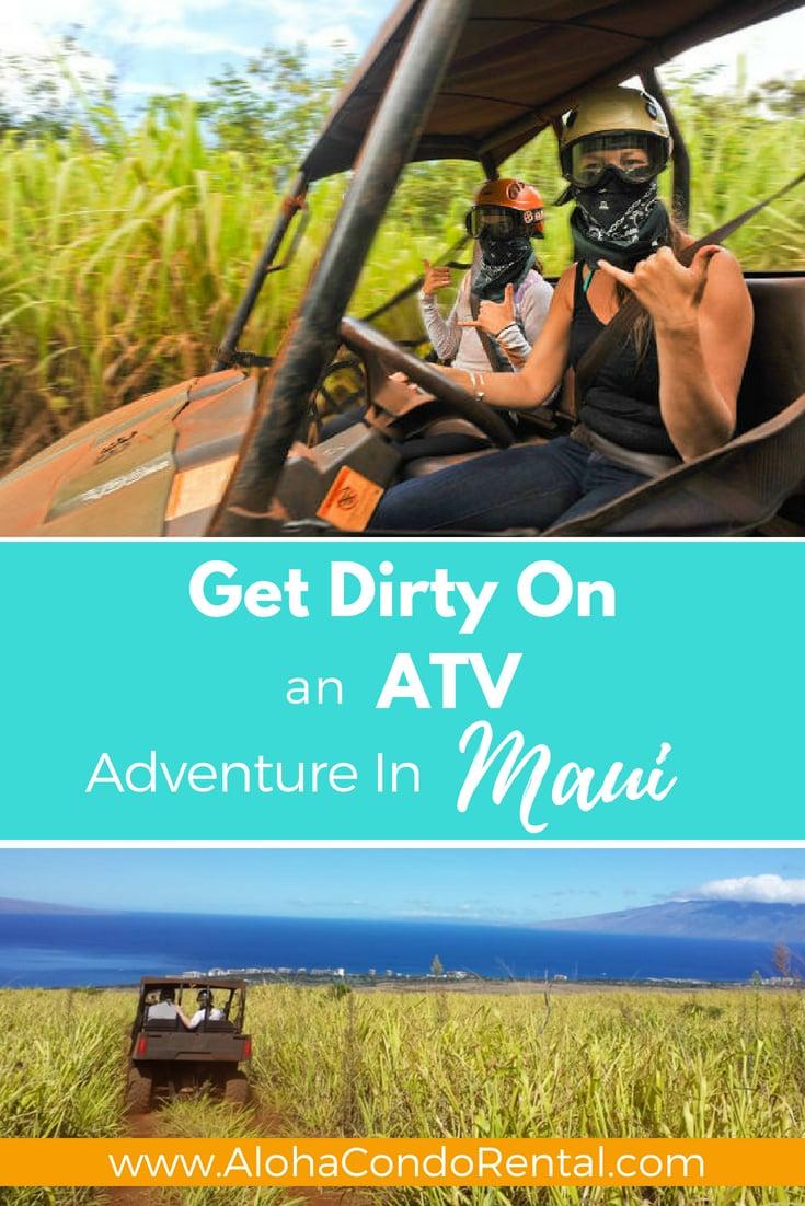 Get Dirty On An Island ATV Adventure In Lahaina Maui - www.AlohaCondoRental.com Vacation Rental Maui