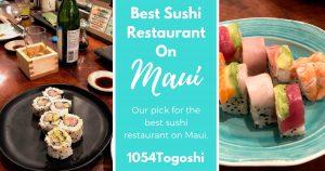 Best Sushi Maui 1054Togoshi
